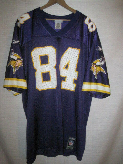 new concept c6997 ab48f Vintage Minnesota Vikings Randy Moss Football Jersey men's XL purple Reebok  NFL
