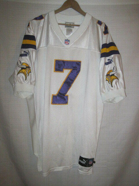 huge discount 0eb60 4428d Authentic Minnesota Vikings Randall Cunningham football jersey men's 52  Puma NFL