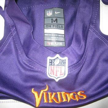 e4d9579a Authentic Minnesota Vikings Cris Carter Football Jersey kids boys M 1/12  SEWN
