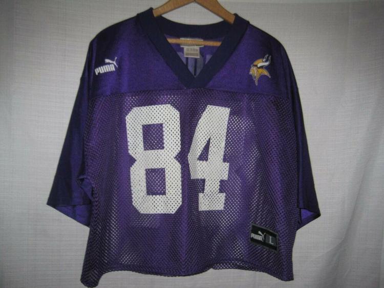 cheap for discount 0c43a a91d6 Vintage Minnesota Vikings Randy Moss Football Practice Jersey men's L Puma
