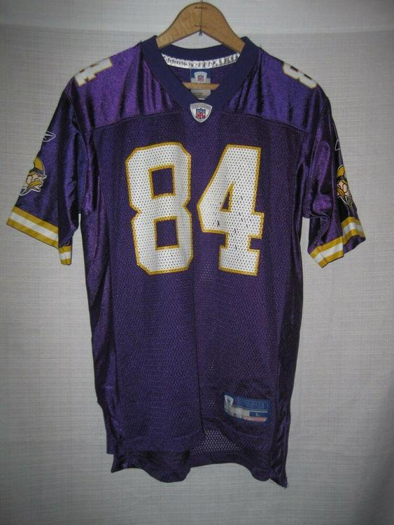 Vintage Minnesota Vikings Randy Moss Football Jersey kids boys L 14/16  Reebok