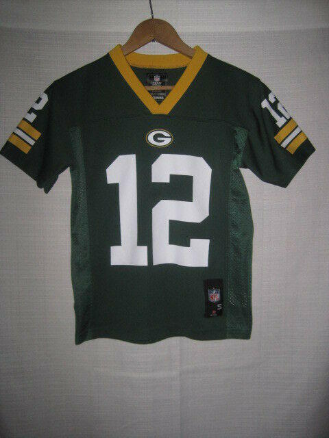 76c0bd7e Green Bay Packers Aaron Rodgers Football Jersey kids boys S 8 NFL