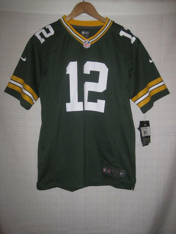 hot sale online 98f06 44c86 Green Bay Packers Aaron Rodgers Nike On Field Football Jersey boys Youth L  NWT