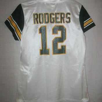 buy popular f58d6 9b905 Green Bay Packers Aaron Rodgers Football Jersey women's L white