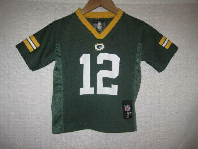 2abf688d Green Bay Packers Aaron Rodgers Football Jersey kids boys Toddler 4T NFL