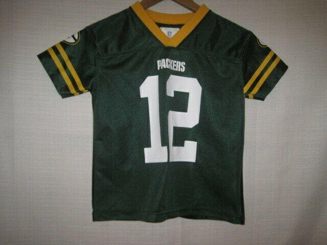 premium selection d242f 4e8c6 Green Bay Packers Aaron Rodgers Football Jersey kids boys Toddler 4/5 XS