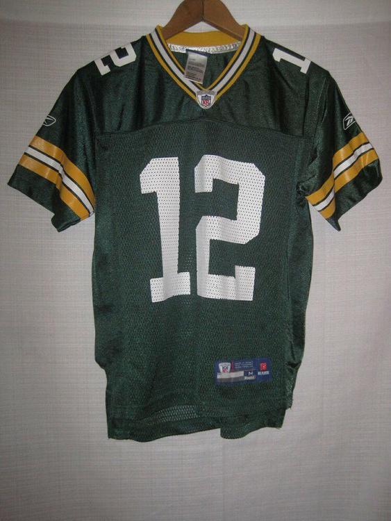 buy popular fa4e8 048c8 Green Bay Packers Aaron Rodgers Reebok Football Jersey kids boys M 10/12 NFL