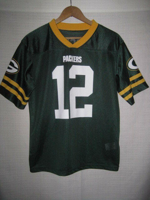 2de8cdae Green Bay Packers Aaron Rodgers Football Jersey kids boys XL 14-16 NFL