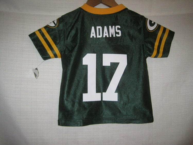 Adams Green Bay Packers Davante Jersey Boys Baby Toddler 2t Nwt New Removed Football Apparel
