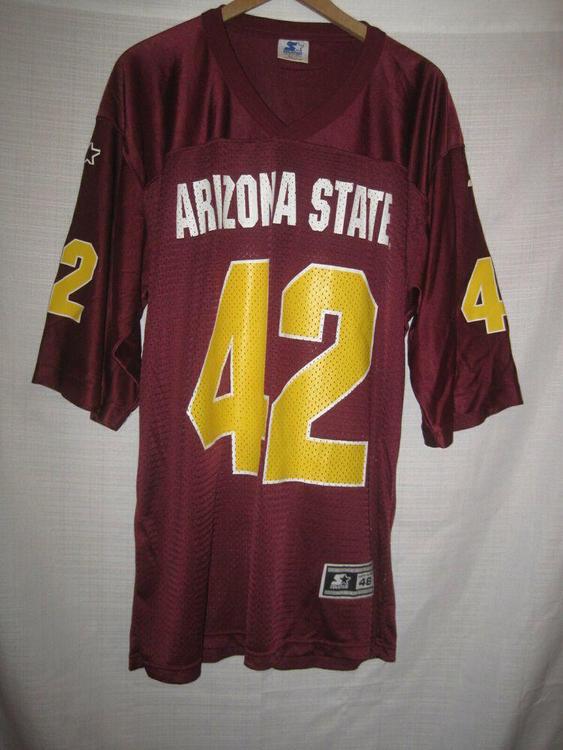 on sale 4e956 5fd6a Vintage Arizona State Sun Devils Pat Tillman Football Jersey 48 maroon #42