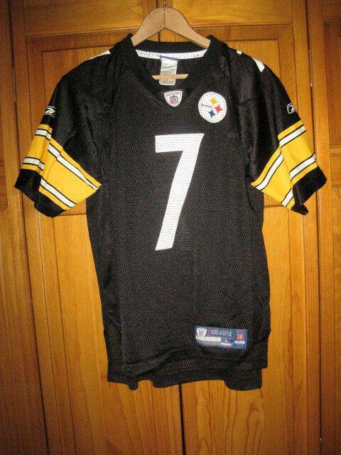 promo code a326a 5de8e Pittsburgh Steelers Ben Roethlisberger Reebok football jersey kids boys L  NFL