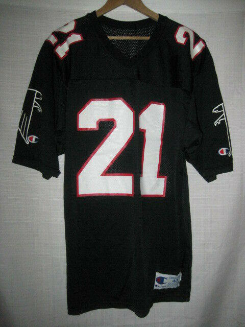 finest selection eef55 ee198 Vintage Atlanta Falcons Deion Sanders football jersey men's 40 Champion  black