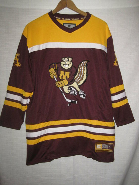 huge selection of d5286 edb15 Minnesota Golden Gophers Goldy Gopher Hockey Jersey kids boys L 16/18 SEWN
