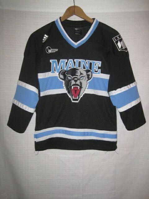 promo code c0840 04374 Maine Black Bears Adidas Hockey Jersey kids boys M 10-12 black