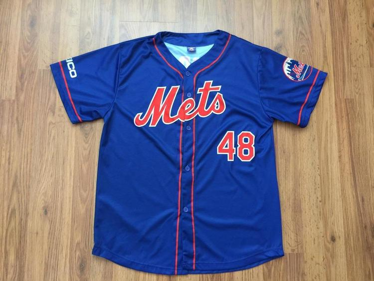 separation shoes aec41 767e9 New York Mets MLB Baseball SUPER AWESOME Jacob deGrom SGA Button Up Sz XL  Jersey