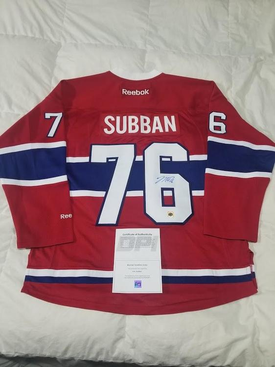 huge selection of 61401 f154f PK SUBBAN Signed Montreal Canadiens Home Jersey w/ COA