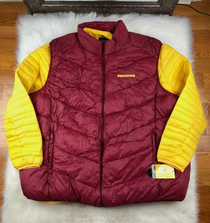 the latest f577d b9849 Washington Redskins 3 in 1 Systems Jacket + Vest Big & Tall 6XL Burgundy NFL