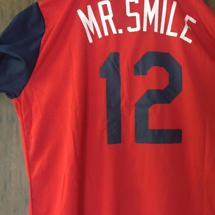 "brand new 4f373 081f2 New Francisco Lindor ""Mr. Smile"" Jersey 