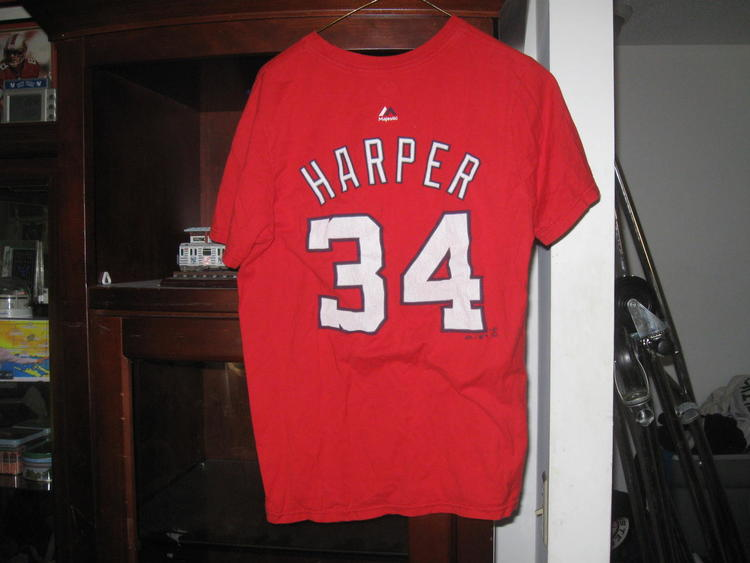 best service b9689 d6fb1 NATIONALS BRYCE HARPER YOUTH TSHIRT JERSEY (L)