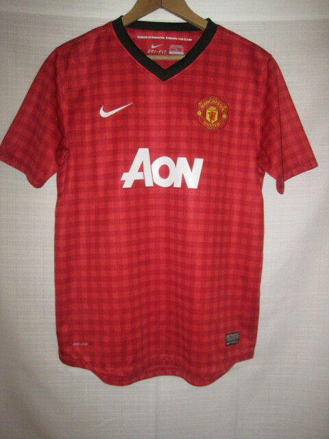 detailing 4c337 fe90a Manchester United Nike Dri-Fit Soccer Jersey kids boys XL red plaid