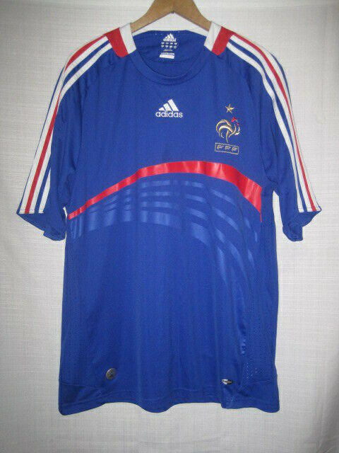 wholesale dealer bb723 93938 France FFF Adidas Clima 365 Soccer Jersey men's L blue World Cup Olympics
