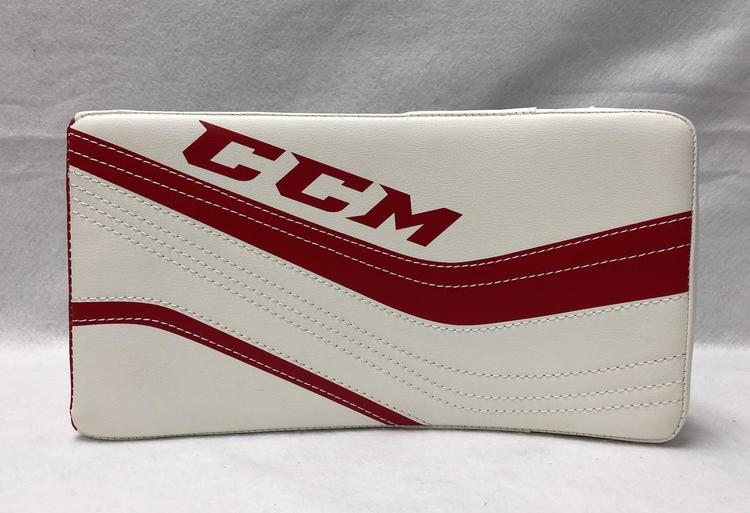 CCM Premier R1 5 Junior Regular Goalie Blocker - White/Red - New with Tags