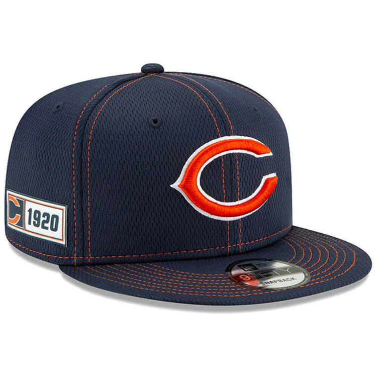 0f8f0afe 2019 Chicago Bears C New Era 9FIFTY NFL Road Sideline Snapback Hat Cap 950