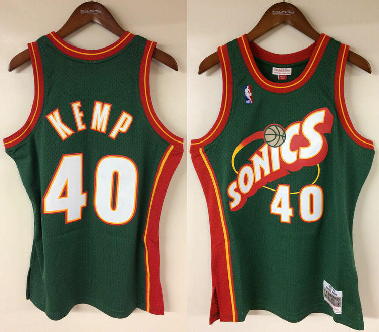san francisco 545d2 1e9d4 Shawn Kemp Seattle SuperSonics Mitchell & Ness Authentic 1995-96 Jersey  Sonics