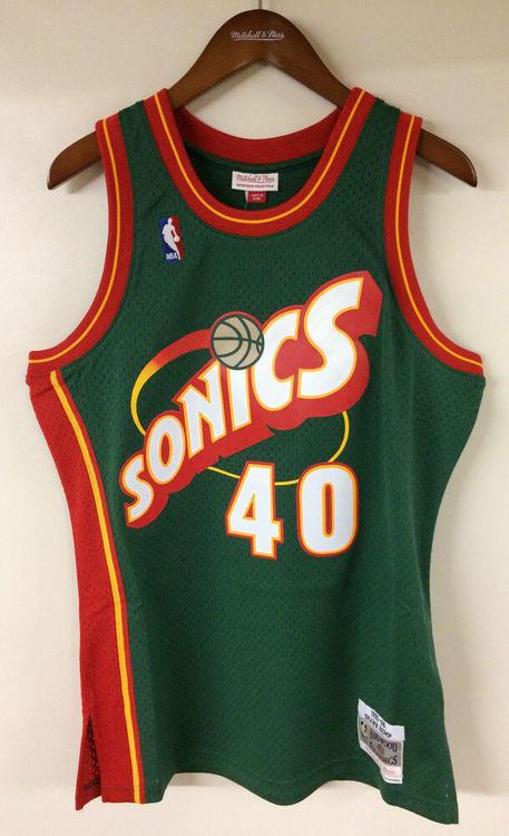 pretty nice 08102 2e00d Shawn Kemp Seattle SuperSonics Mitchell & Ness Authentic 1995-96 Jersey  Sonics | Basketball Apparel & Jerseys | SidelineSwap