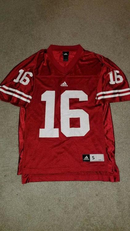 sale retailer e7e57 0c07c Vintage Wisconsin Badgers Football #16 Jersey Russell Wilson Mens Small  Adidas S
