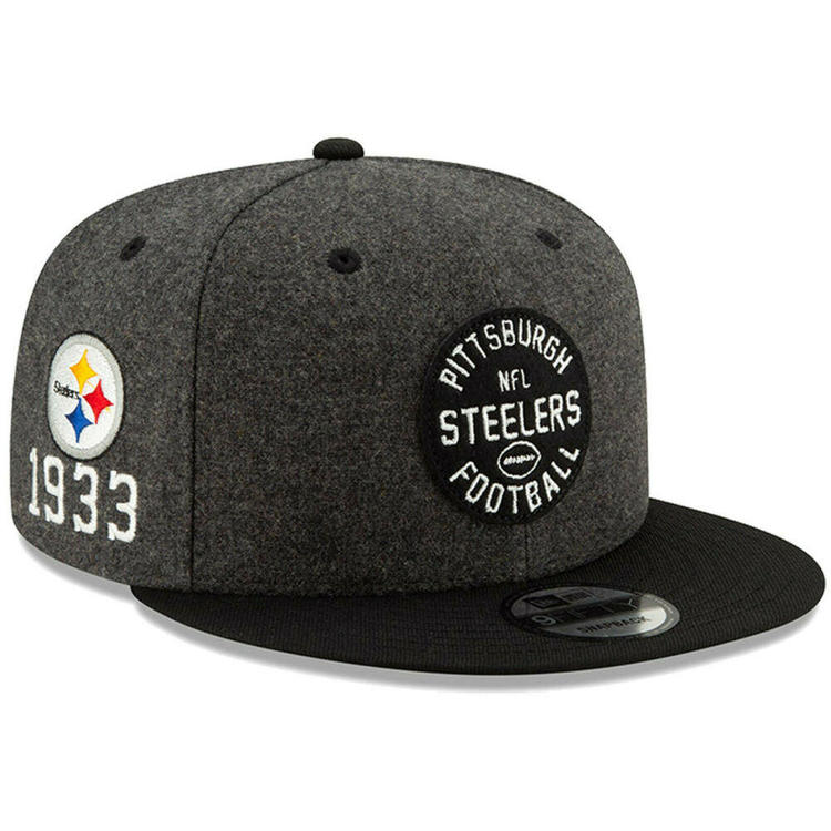 5eb5141af 2019 Pittsburgh Steelers New Era 9FIFTY NFL Home Sideline Snapback Hat Cap  1930s