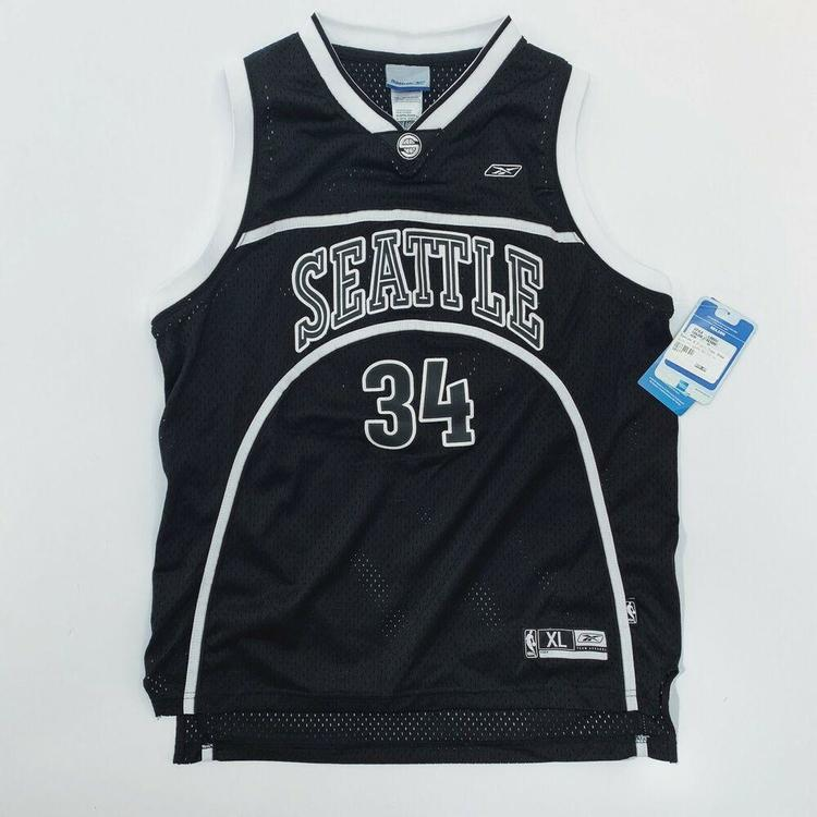 quality design be5b0 d6704 Authentic Ray Allen Seattle Supersonics Reebok Basketball Jersey NBA Small  NWT