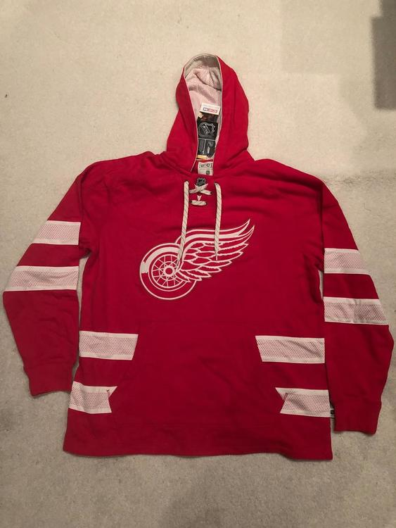 new styles ced71 1c3fb New CCM NHL Detroit Red Wings Throwback Sweatshirt