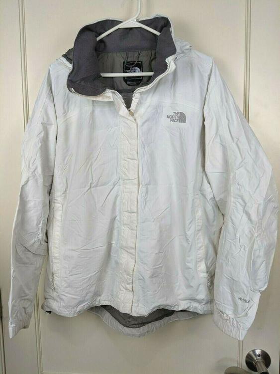 b431b609f The North Face Hyvent White Waterproof Windbreaker Rain Jacket Coat Women's  XL