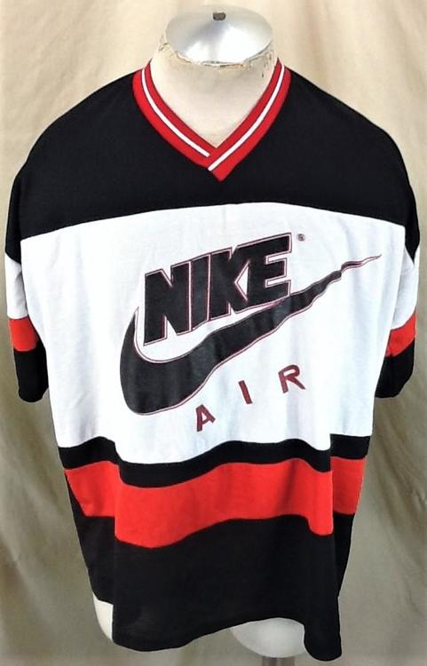 c7556b5a00039 Vintage 90's Nike Air Red Tag (XL/2XL) Retro Basketball Nylon Shooting Shirt