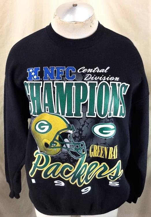 timeless design 270c6 eff31 Vintage 1995 Green Bay Packers Football (XL) Retro Central Division  Champions Sweatshirt