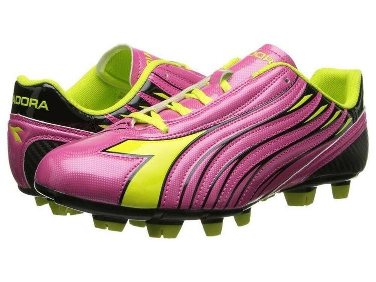 Diadora Solano Women's Soccer Cleats Size 9 MagentaYellow New
