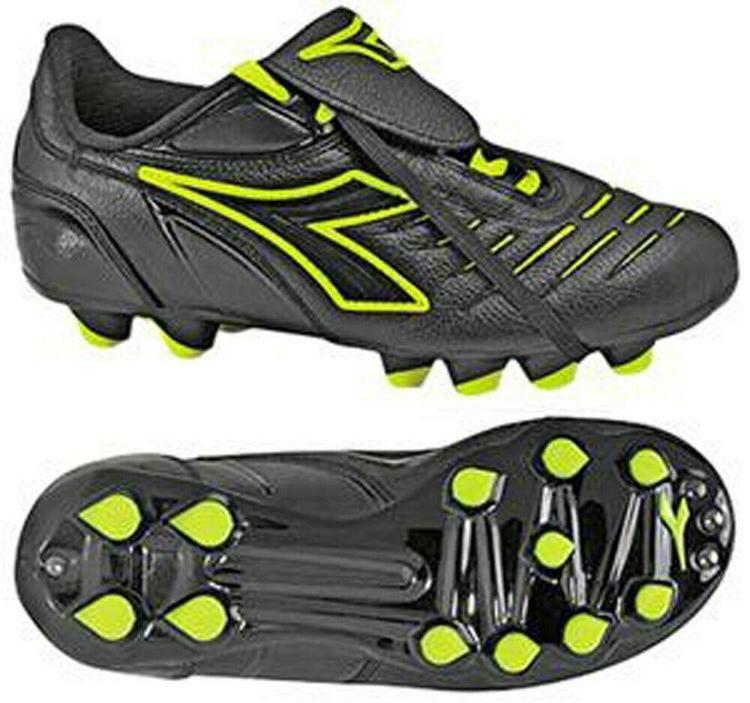 6ce73edf Diadora Maracana MD PU Junior Soccer Cleats Size 6.5 Black/Yellow - NEW