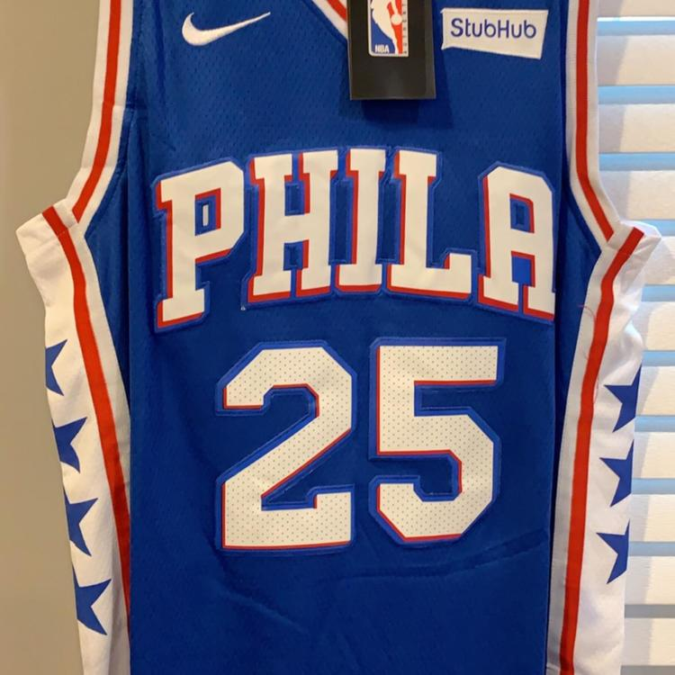 meet 58aeb eaa4e BEN SIMMONS #25 Philadelphia 76ers Brand New With Tags City Edition Replica  Jersey