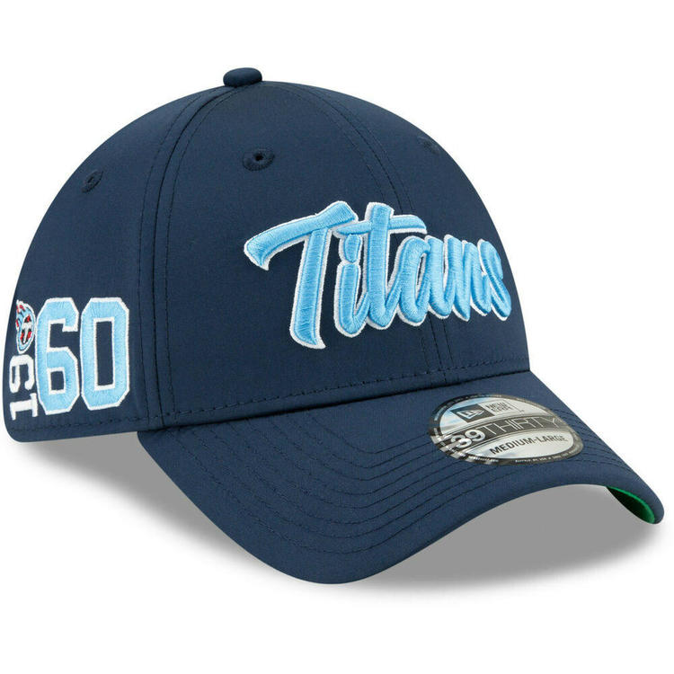 6debb8a9 2019 Tennessee Titans New Era 39THIRTY NFL Sideline Home On Field Cap Hat  1960s