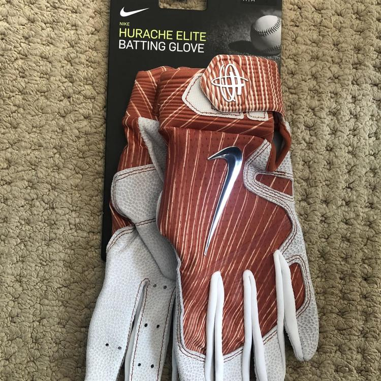 NWT Nike Hurache Elite Batting Gloves Burnt Orange Size M PGB590-881 Texas UT