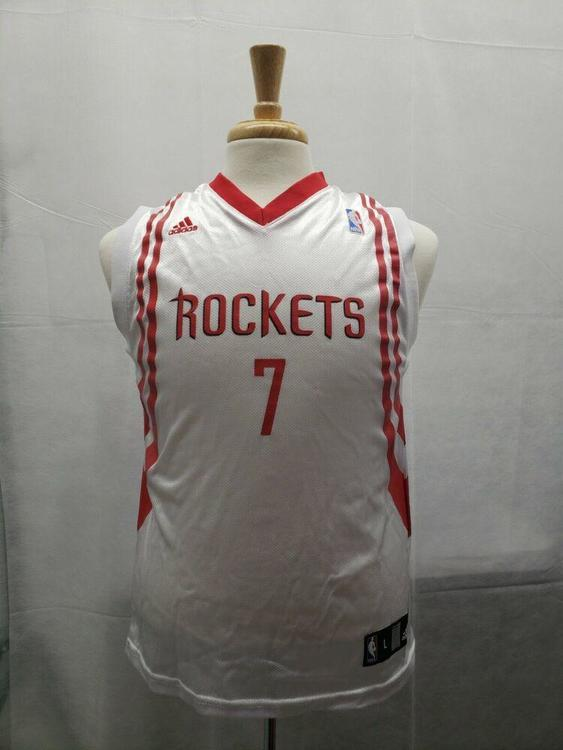 100% authentic b2c95 80cac Jermey Lin Houston Rockets Jersey NBA Adidas Youth L White
