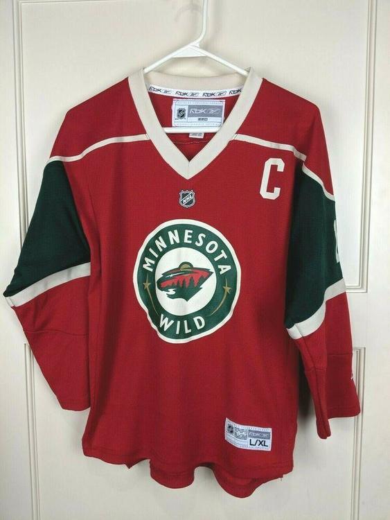 best service ae4e9 401cc Vtg Minnesota Wild Marian Gaborik #10 Reebok NHL Hockey Jersey Youth Size:  L/XL