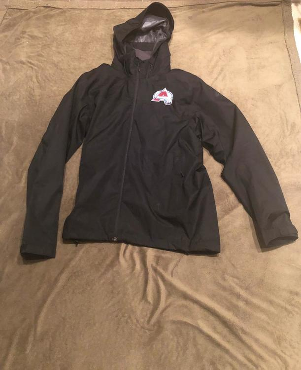 check out 53b77 48765 New Adidas Colorado Avalanche Full Zip Rain Jacket Team Issued for Players.  S, M, LG, XXL