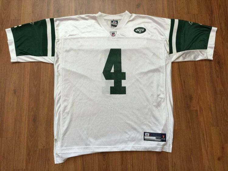 sneakers for cheap 0f5ac 6856e New York Jets Brett Favre #4 SUPER AWESOME Reebok Size 2XL XXL Football  Jersey!