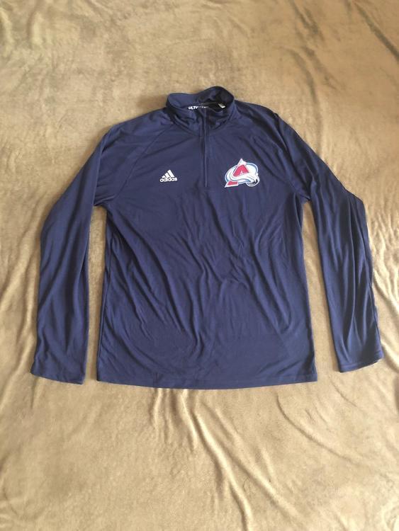 official photos 7fce6 cdd2b New Adidas NHL Colorado Avalanche Team Issue 1/4 Zip Light Sweatshirt