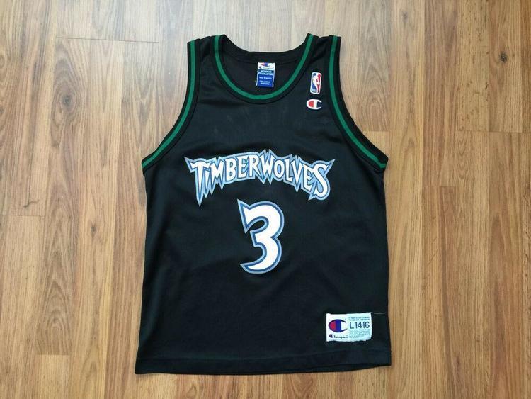 buy online c8776 d43d0 Minnesota Timberwolves Stephon Marbury #3 NBA Kids Sz L 14-16 Basketball  Jersey