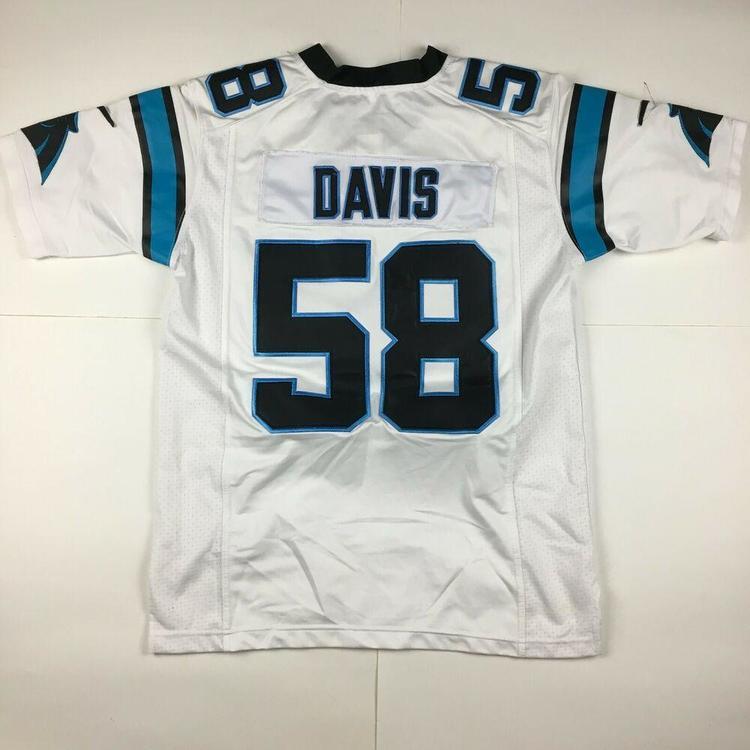 buy popular a4621 12f3e Nike Thomas Davis Carolina Panthers Football Jersey #58 NFL Stitched White  Sz XL