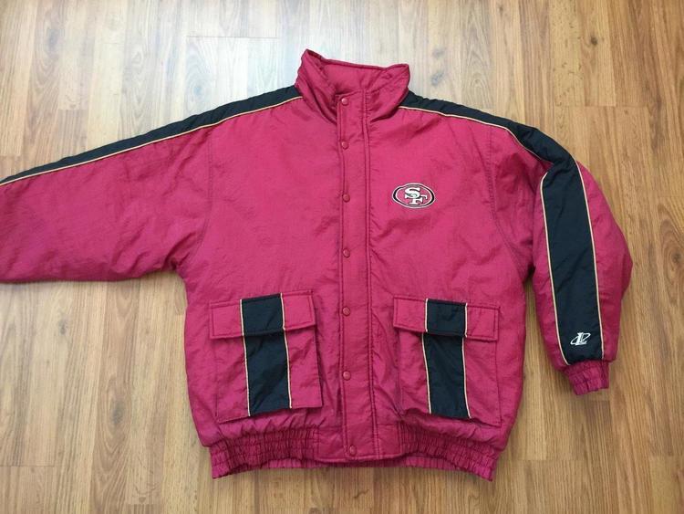 5fe2eba3 San Francisco 49ers NFL SUPER VINTAGE 90s Logo Athletic Sz Large Winter  Jacket!