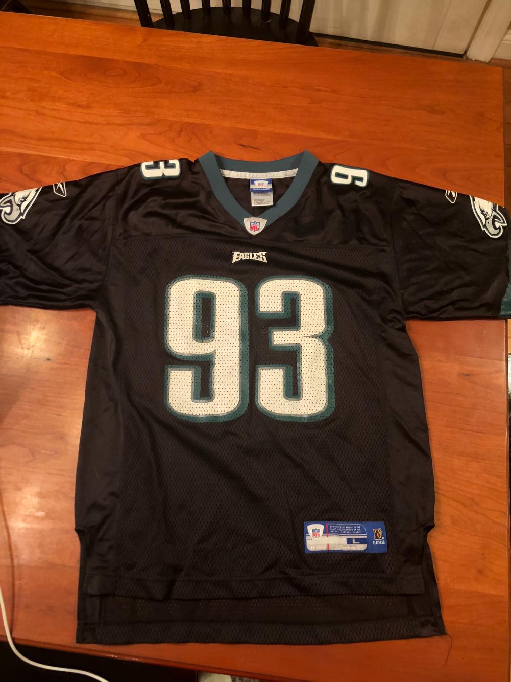 Jevon Kearse Black Philadelphia Eagles Jersey #93. (14-16) youth large
